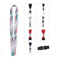 promotional 3/4 fine print lanyard - full-color