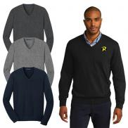 promotional port authority® mens v-neck sweater