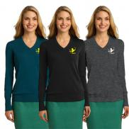 promotional port authority® ladies v-neck sweater