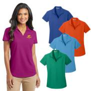 promotional port authority® ladies dry zone® grid polo