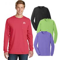 23493 - Port & Company® Pigment-Dyed Long Sleeve Pocket Tee