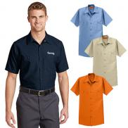 promotional red kap ® - short sleeve industrial work shirt