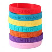 promotional debossed silicone band 1/2