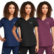 promotional barco greys anatomy ladies 2 pocket v-neck top