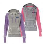 promotional j. america ladies zen fleece hooded sweatshirt