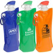 promotional 27 oz. flip top folding water bottle