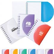 promotional mini spiral curve notebook