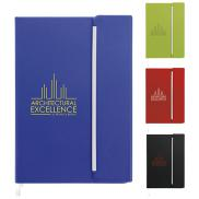 promotional journal with magnetic closure