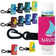 promotional spf 15 lip balm with leash