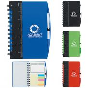 promotional 5 x 7 ruler notebook with flags and pen