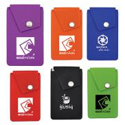 promotional silicone snap pocket wallet