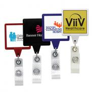 promotional anti-microbial square badge reel