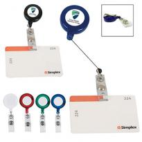 24585 - Retractable Badge Holder With Laminated Label