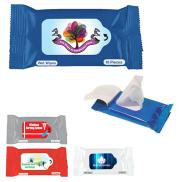 promotional wet wipe packet