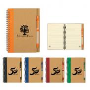 promotional eco-inspired spiral notebook & pen