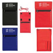 promotional non-woven neck wallet badge holder