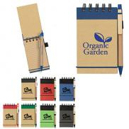 promotional eco-inspired spiral jotter & pen