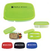 promotional 2-section lunch container
