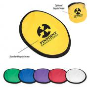 promotional 10 flying disk with matching pouch