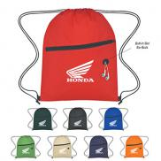 promotional non-woven sports pack with front zipper