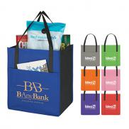 promotional non-woven shoppers pocket tote bag