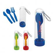 promotional utensil kit with carabiner
