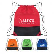 promotional non-woven two-tone drawstring sports pack