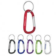 promotional 8mm carabiner with split ring