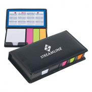 promotional case of sticky notes with calendar