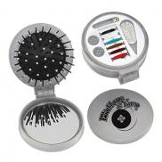 promotional 3-in-1 silver sewing/brush kit