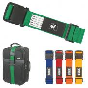 promotional luggage strap with bag identifier