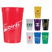 promotional 22 oz. smooth stadium cups