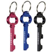 promotional key shape bottle opener key ring