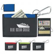 promotional velcro® wallet with carabiner