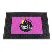 promotional 2 x 3 dirt stopper mat with rubber backing