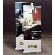 promotional economy fabric retractable banner stand - 33.5 x 82
