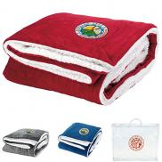 promotional sherpa throw blanket