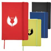 promotional 5 x 7 snap elastic closure notebook
