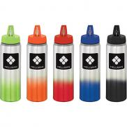 promotional 25 oz. gradient aluminum sports bottle