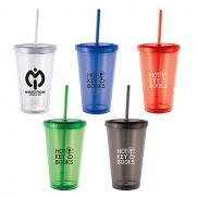 promotional 16 oz. cyclone tumbler with straw