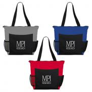 promotional grandview zippered meeting tote