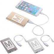 promotional sleek aluminum power bank