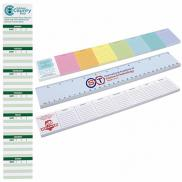promotional bic® 12 sticky notepads (25 sheet)