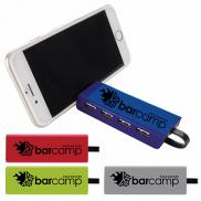 promotional 4-port usb hub and phone stand