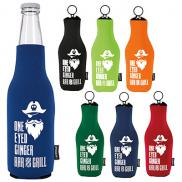 promotional koozie® neoprene zip-up bottle kooler