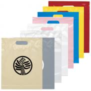 promotional die cut handle bag 15h x 12w
