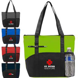 Polypro Pocket Tote Bag - Full Color