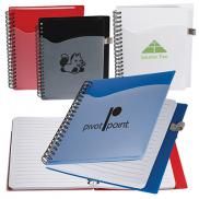 promotional polypro notebook with clear front pocket