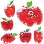 promotional gel bead hot/cold pack in apple shape