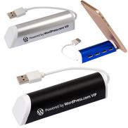 promotional aluminum 4 port usb hub